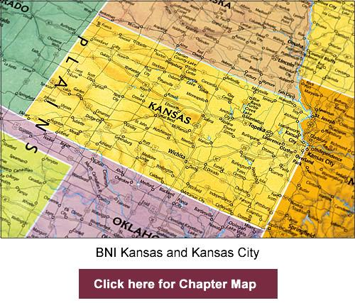 BNI Kansas and Kansas City chapter map